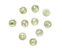 Lemon Ice Faceted Round 6mm