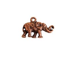 Nunn Design Antique Copper (plated) Small Elephant Charm 14x20mm
