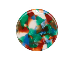 Zola Elements Lagoon Acetate Coin Focal 30mm