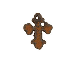 The Lipstick Ranch Rusted Iron Miniature Cross Pendant 17x22mm