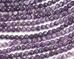Dogtooth Amethyst Faceted Round 6mm