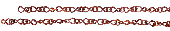 "Patricia Healey Copper Small ""S"" Link Chain 10x18mm, 20"""