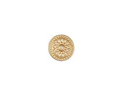 Zola Elements Matte Gold (plated) Radiant Sun Disc 3mm Flat Cord Slide 11mm