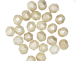Czech Fire Polished Glass Beige Silver Champagne Round 6mm