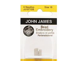 John James Size 10 English Ball Point Bead Embroidery Needles