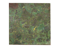 """Lillypilly Verde Patina Copper Sheet 3""""x3"""", 36 gauge"""