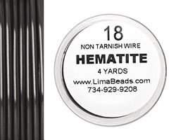 Parawire Hematite 18 gauge, 4 yards