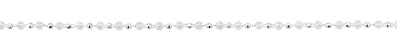 Clear Crystal & Imitation Rhodium (plated) Rounds Bead Chain