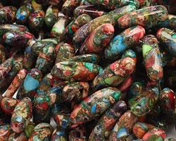 Mardi Gras (Mixed Impression) Jasper Stick 6-8x13-25mm