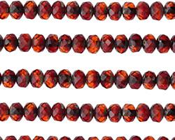 Czech Glass Blood Orange Rondelle 3x5mm