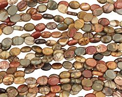Red Creek Jasper Flat Oval 8x6mm