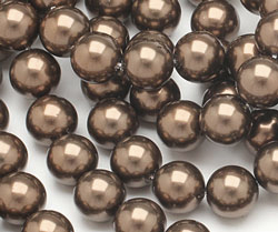 Chocolate Shell Pearl Round 10mm