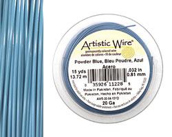 Artistic Wire Powder Blue 20 gauge, 15 yards