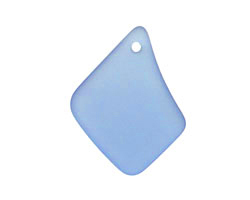 Light Sapphire Recycled Glass Freeform Drop 16-23x25-30mm