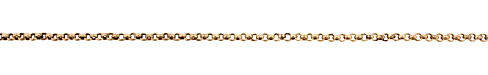 Antique Gold (plated) Small Rollo Chain