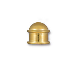 TierraCast Gold (plated) Capitol 10mm Cord End 13.5x14mm