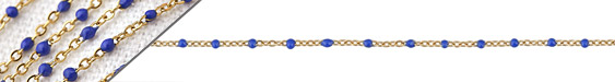 Gold (plated) Stainless Steel Cobalt Small Cable Chain