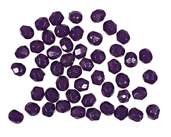Czech Fire Polished Glass Coated Opaque Tanzanite Round 4mm