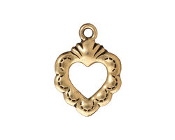 TierraCast Antique Gold (plated) Sacred Heart Ring 19x25mm