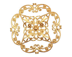 Brass Full Diamond Circle Filigree 61mm