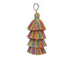 Rainbow 4-Tiered Tassel 108mm