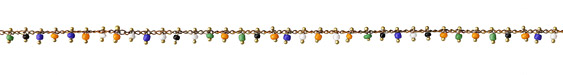 Zola Elements Cabana Mix Seed Bead Drop Brass Chain