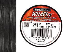 "WildFire Black .006"" Thread, 125 yards"