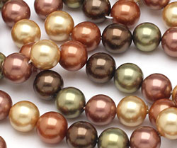 Harvest Shell Pearl Mix Round 10mm
