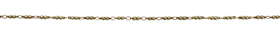 Antique Brass (plated) Double Ball Link Chain