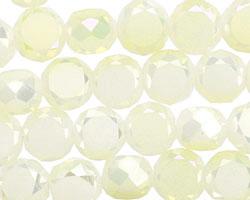 Lemon Ice Crystal Faceted Table Cut Coin 10mm