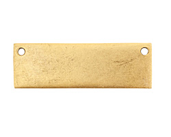 Nunn Design Antique Gold (plated) Flat Grande Horizontal Tag Link 37x12mm