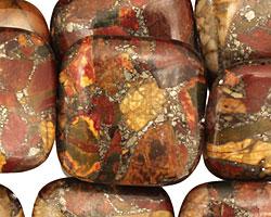 Red Creek Jasper w/ Pyrite Puff Square 25mm