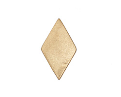 Zola Elements Matte Gold (plated) Diamond 7mm Flat Cord Slide 14x24mm