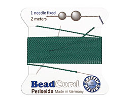 Green Griffin Nylon Beading Cord Size 6, 2 meters