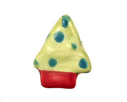 Jangles Ceramic Turquoise Dot Small Tree 22x28mm