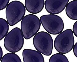 Czech Glass Cobalt Teardrop 12x16mm