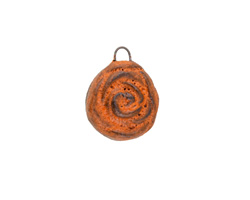 Gaea Ceramic Rustic Orange Rose Charm 16x20mm