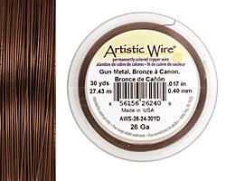 Artistic Wire Antique Brass 26 gauge, 30 yards