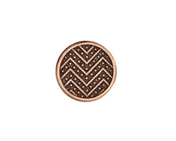 Antique Copper (plated) Zig Zag Button 15mm