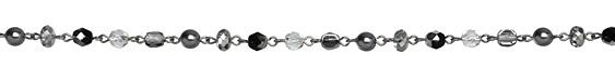 Czech Glass Silver Scene Silver (plated) Bead Chain