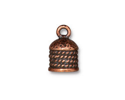 TierraCast Antique Copper (plated) Rope 8mm Cord End 16x11mm