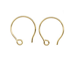 Saki Bronze Small Round Loop Earwire 15x17mm