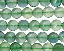 Green Fluorite (A) Puff Coin 8mm
