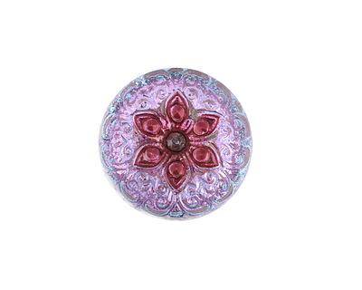 Czech Glass Orchid Starflower Button 19mm