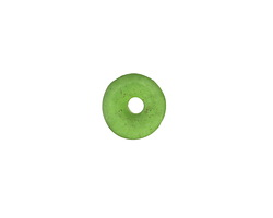 African Recycled Glass Emerald Green Mini Donut 12mm