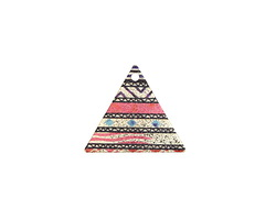 Aztec Sunset Etched & Printed Gold Finish Triangle Focal 22x19mm