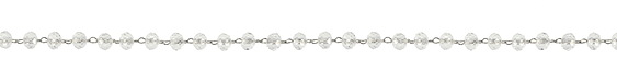 Stainless Steel Clear Crystal 4mm Bead Chain