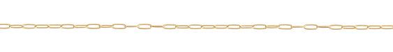 Satin Hamilton Gold (plated) Medium Paperclip Chain