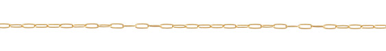 Satin Hamilton Gold (plated) Medium Paperclip Chain