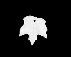 Matte Crystal Lucite Maple Leaf 18x19mm